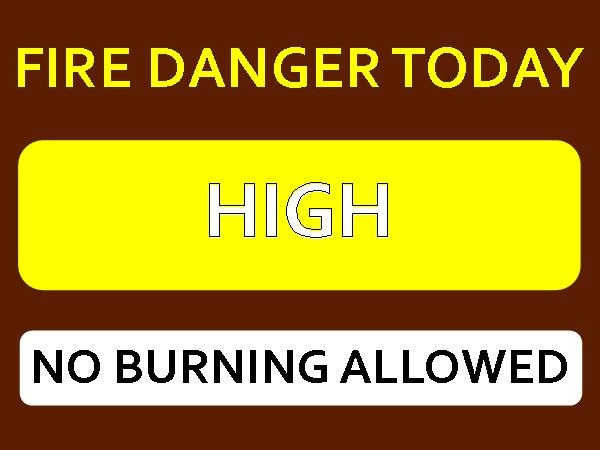 FIRE DANGER SIGN HIGH