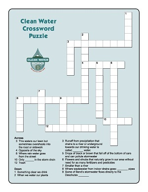 Kids Activity Crossword Puzzle