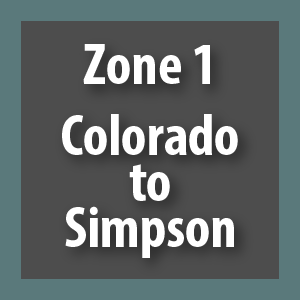 Zone 1 - Colorado to Simpson