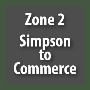 Zone 2 - Simpson to Commerce