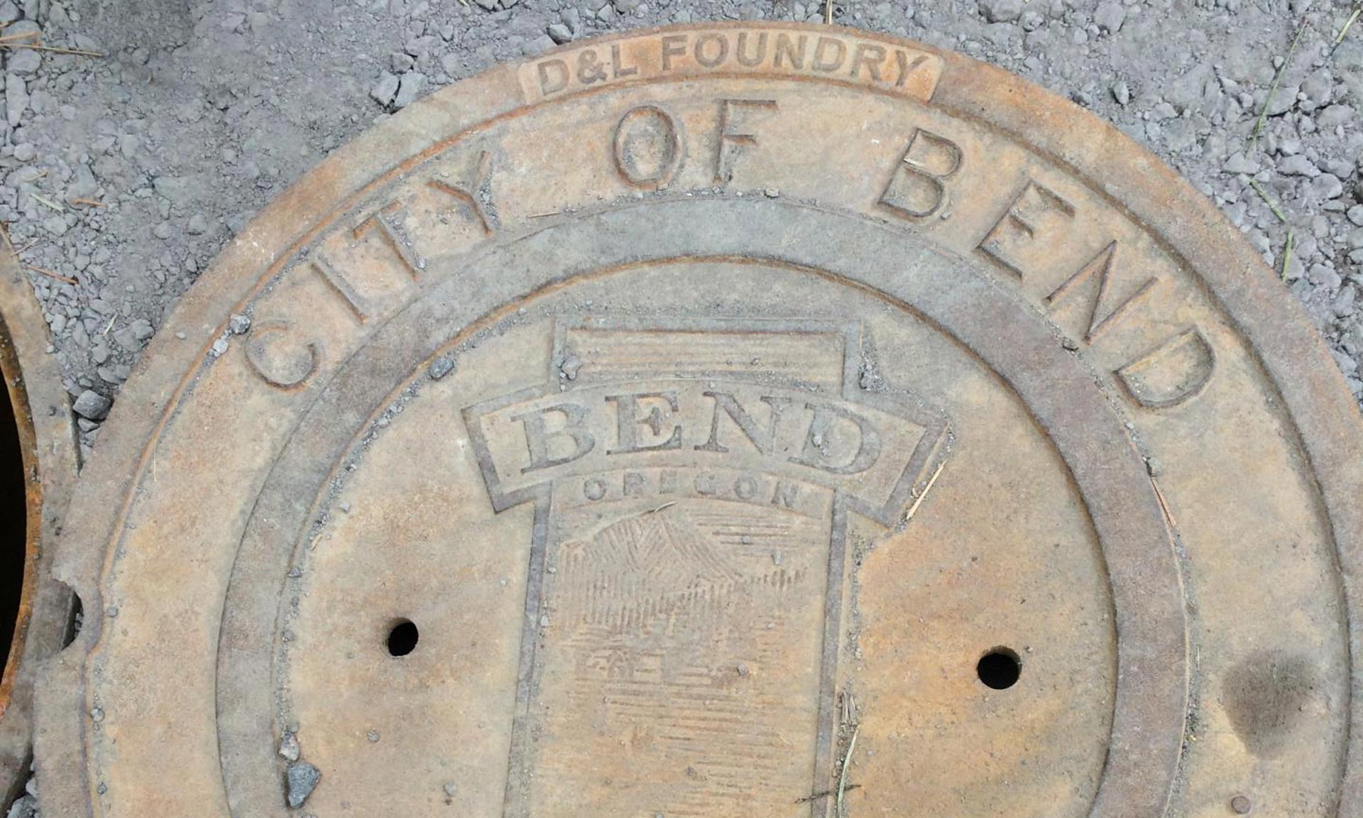 City of Bend manhole cover