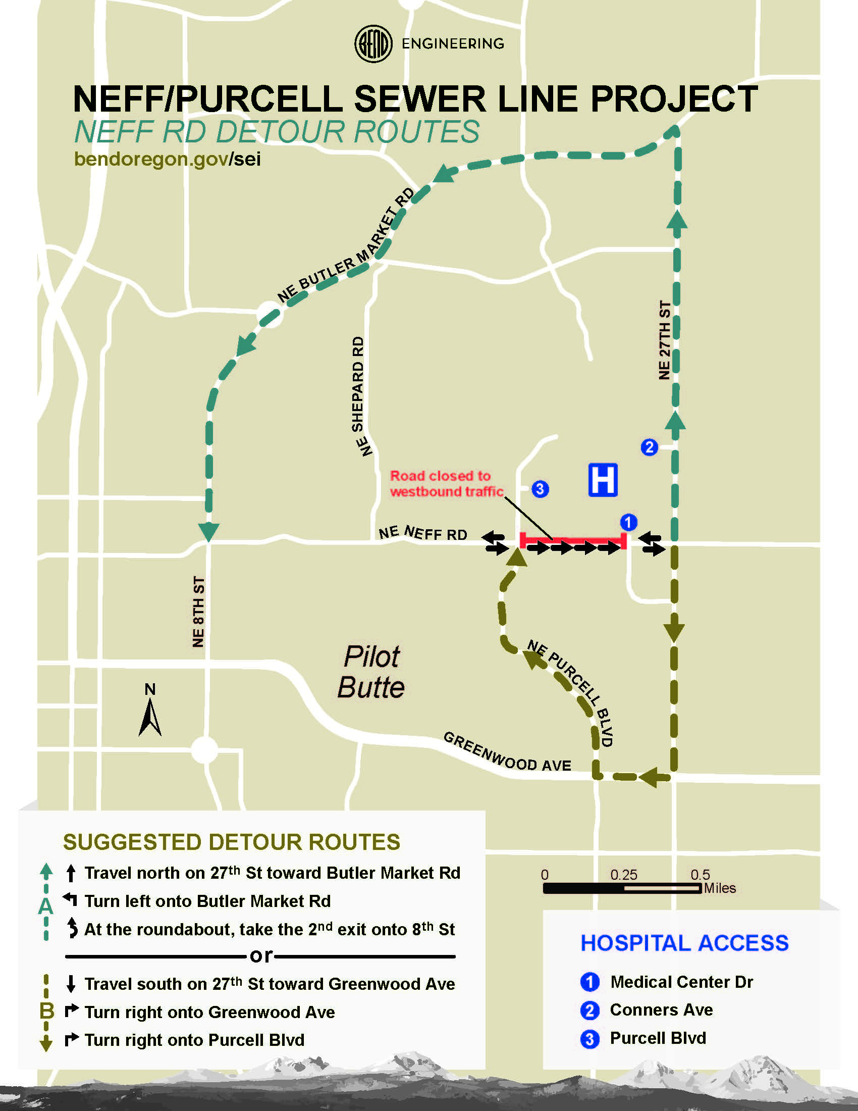 Neff/Purcell closure Nov  27 near St  Charles Bend | St  Charles