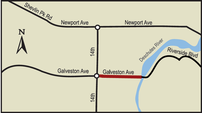 Map of Galveston Project Area (Newport to Riverside Bridge)