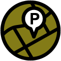 Parking map icon.