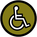 ADA wheelchair icon.