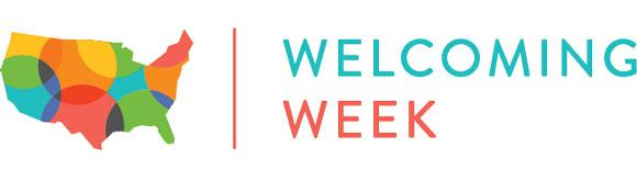 Welcoming Week logo.