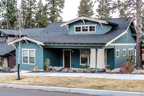 Newly completed affordable housing home in Bend.