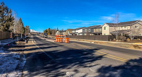 Empire Boulevard construction between 18th Street and Purcell Boulevard.