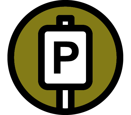 Parking sign icon.