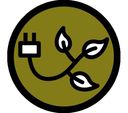 Sustainable energy icon.