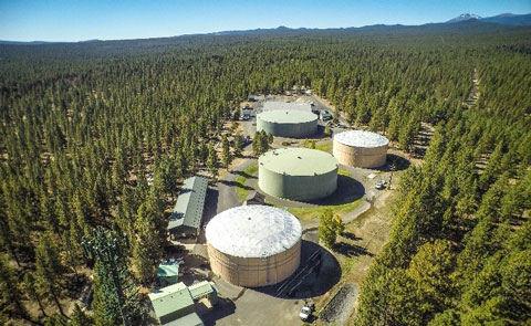 Aerial view of the Water Filtration Facility.