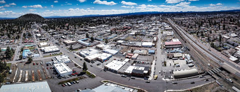 Aerial photo of Bend's Core Area.