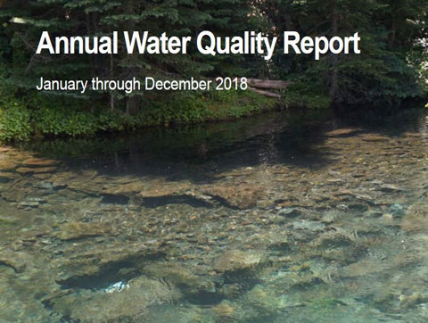 2018 Annual Water Quality Report cover.