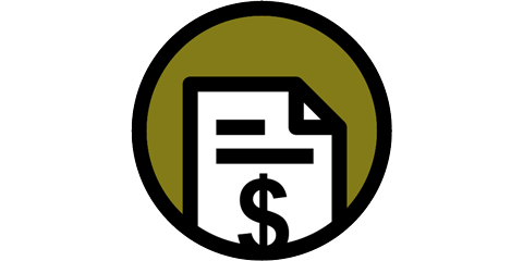 Financial document icon.