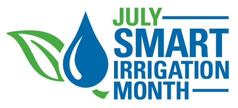 July Smart Irrigation Month logo.