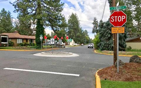 Safe neighborhood street.