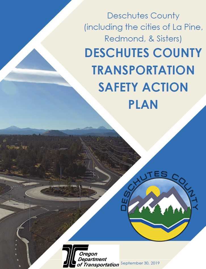 Deschutes County Transportation Safety Action Plan September 2019 Cover of Report