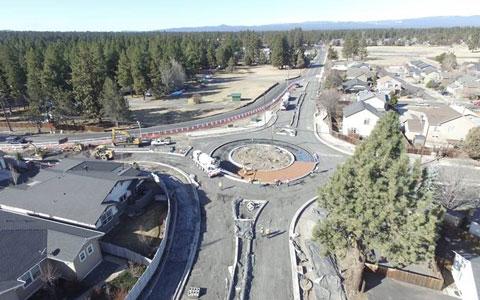 Roundabout under construction.