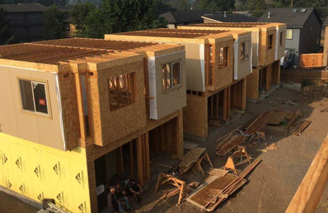 Affordable housing construction.