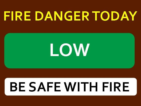 FIRE DANGER SIGN LOW