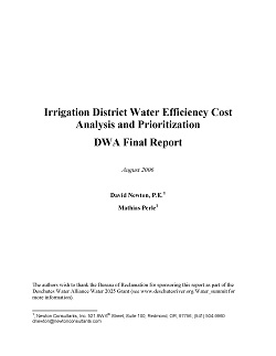 Cover Page DWA 2006 Irrigation Efficiency