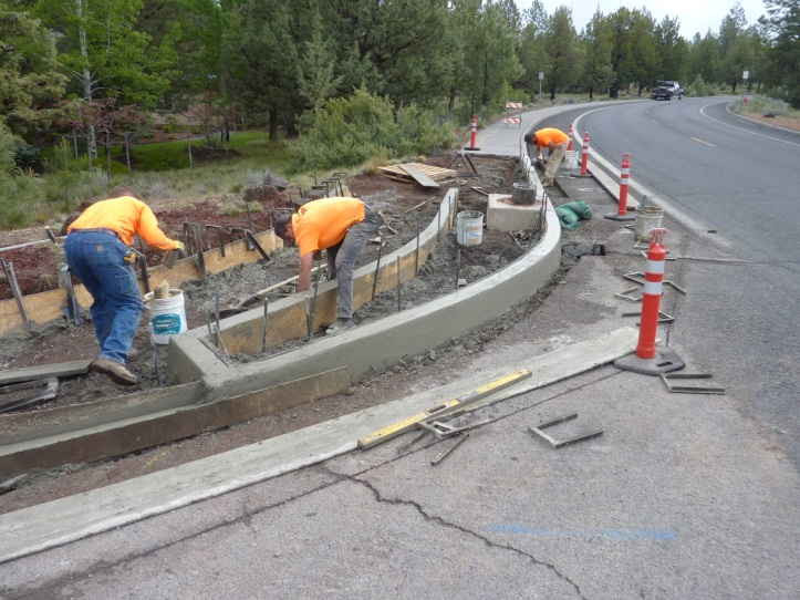 Summit Dr Curb Ramp Improvements - 3 during
