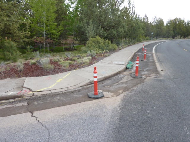 Summit Dr Curb Ramp Improvements - 1 before