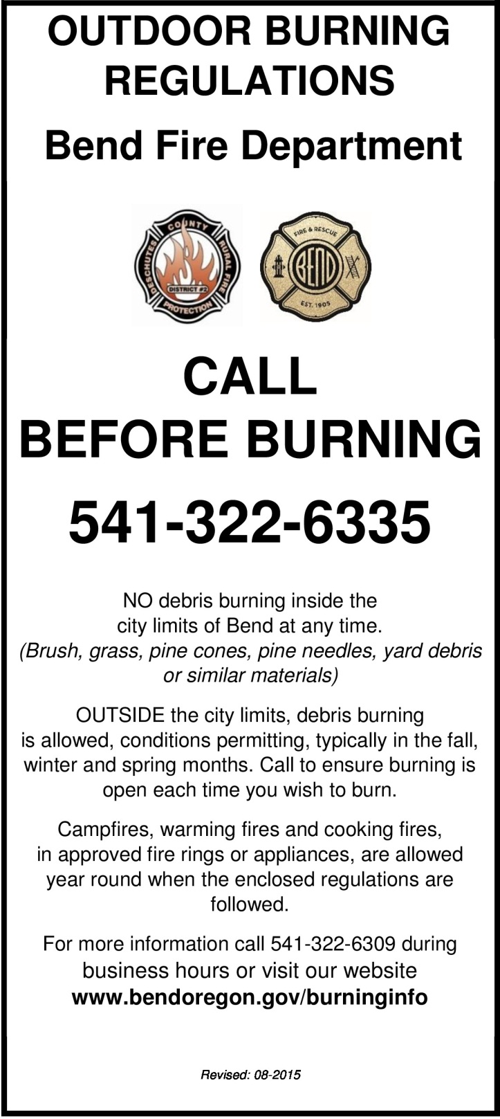 2016 Burn Regs cover page