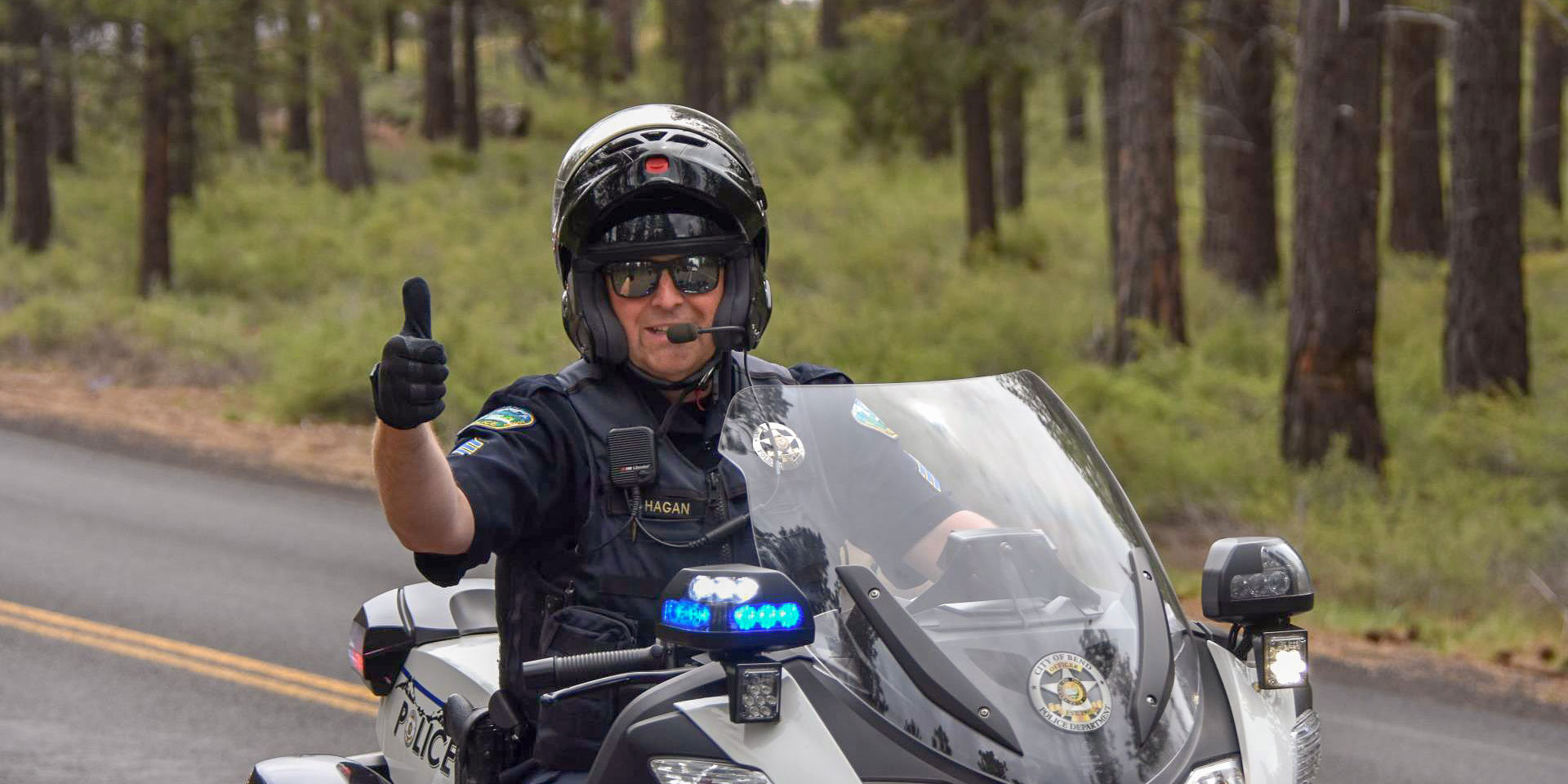 Bend Police Officer on a police motorcycle