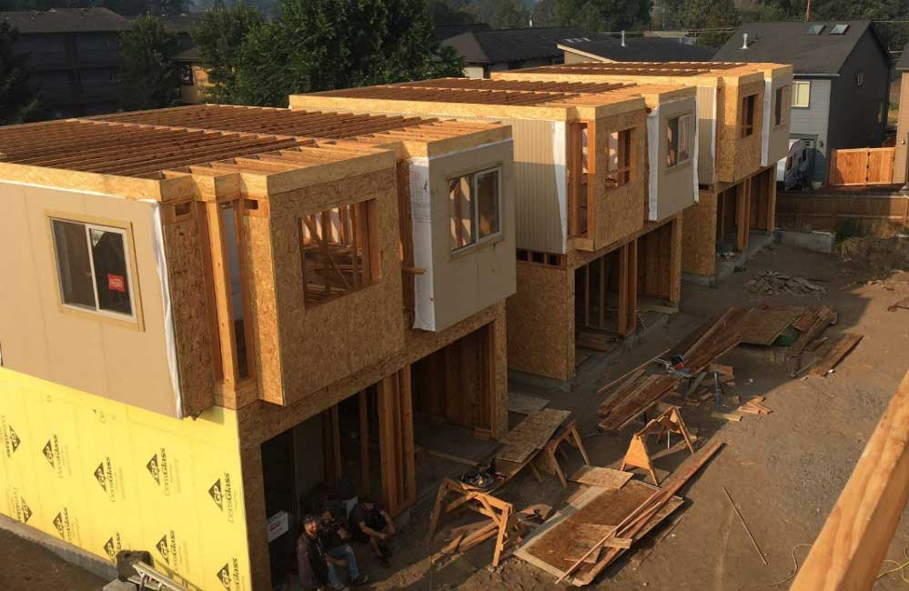 Affordable housing units under construction.