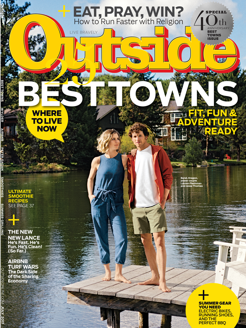 Outside Magazine Best Towns cover.