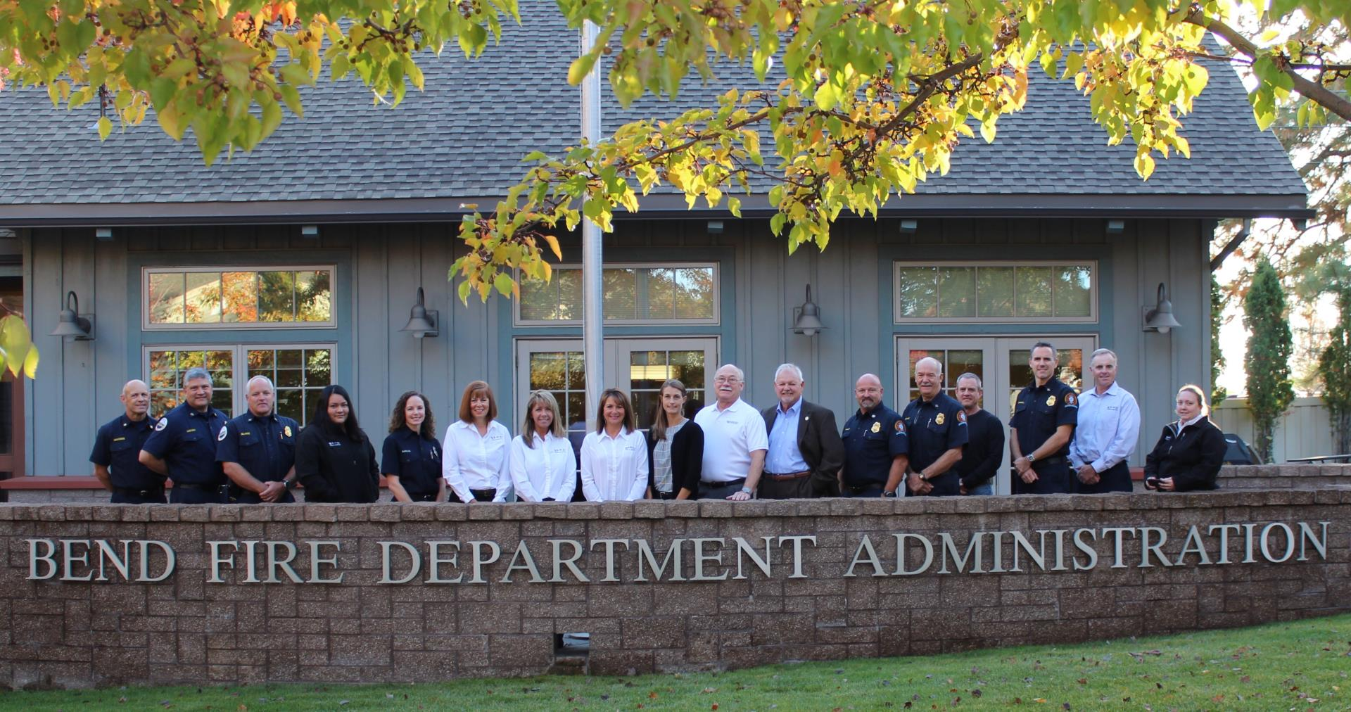 Bend Fire Admin Group Photo 2017
