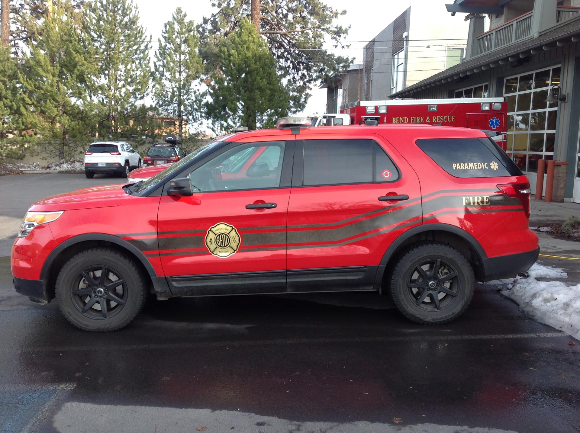 Bend Fire Quick Response Vehicle side view