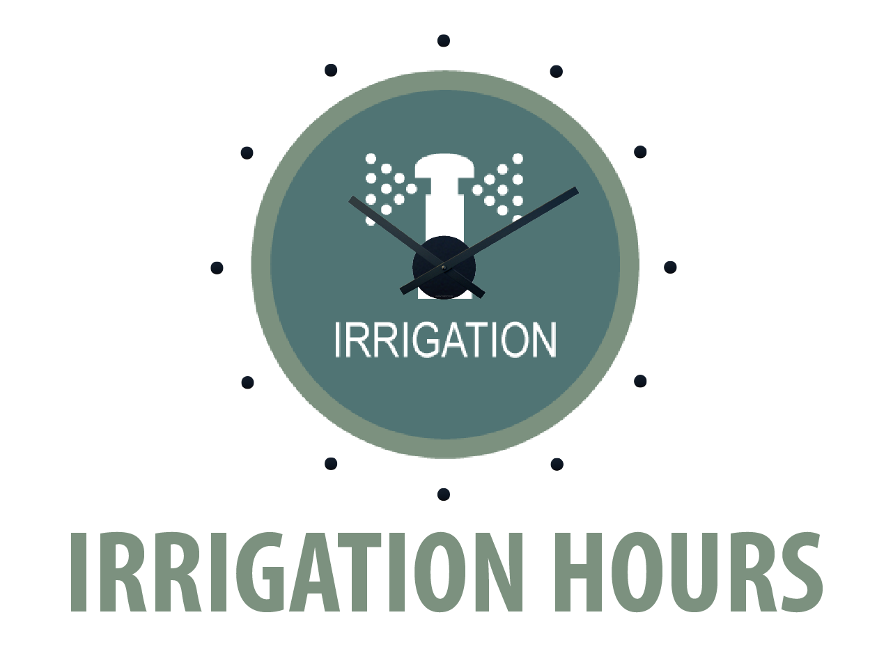irrigation hours icon