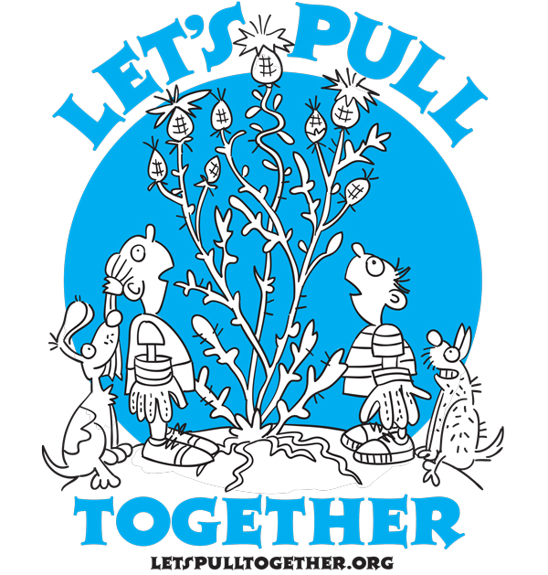 Let's Pull Together shirt logo.