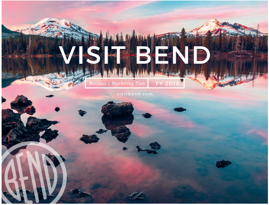 Cover for Visit Bend 2019 Biz Plan