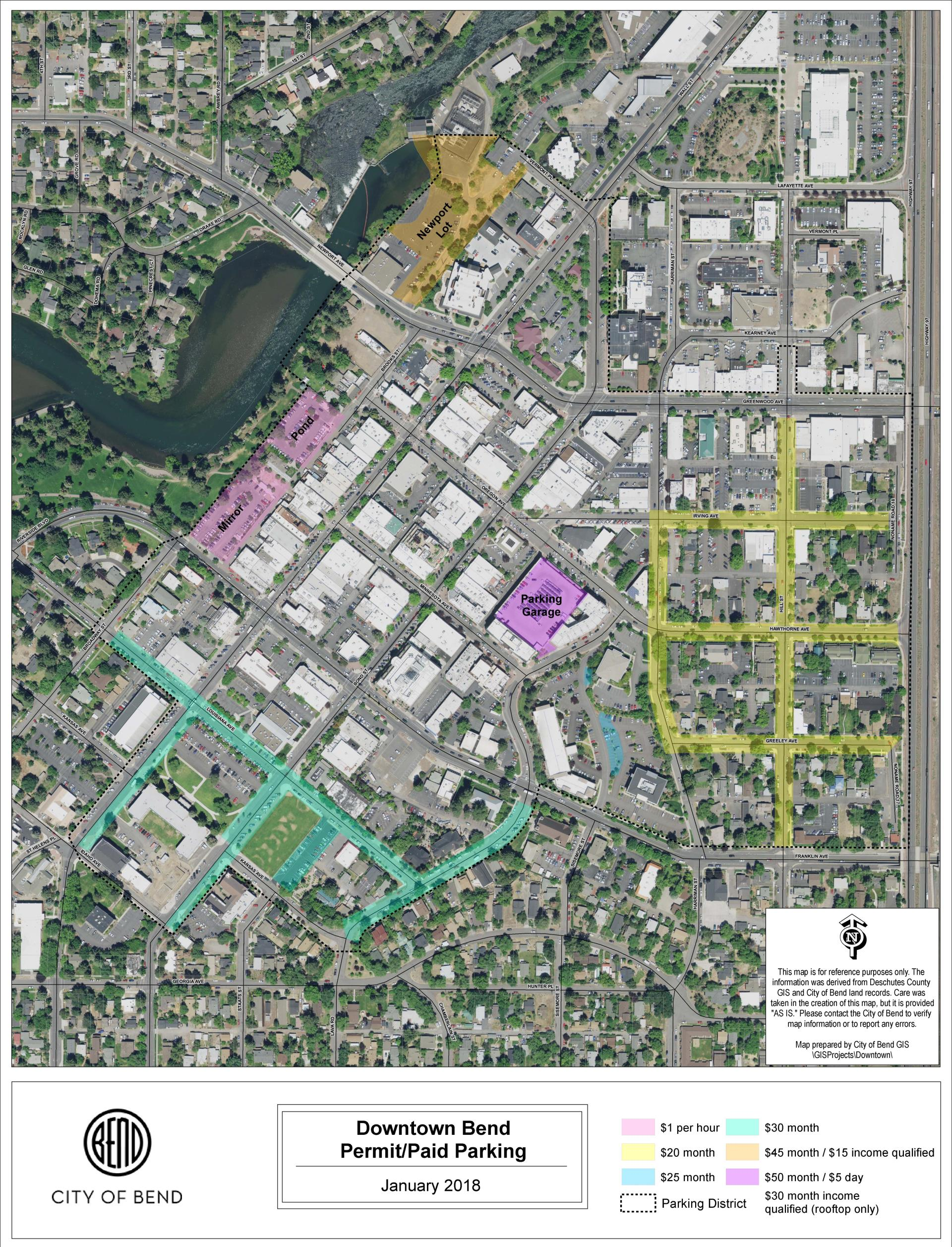 Permit Parking Information City Of Bend