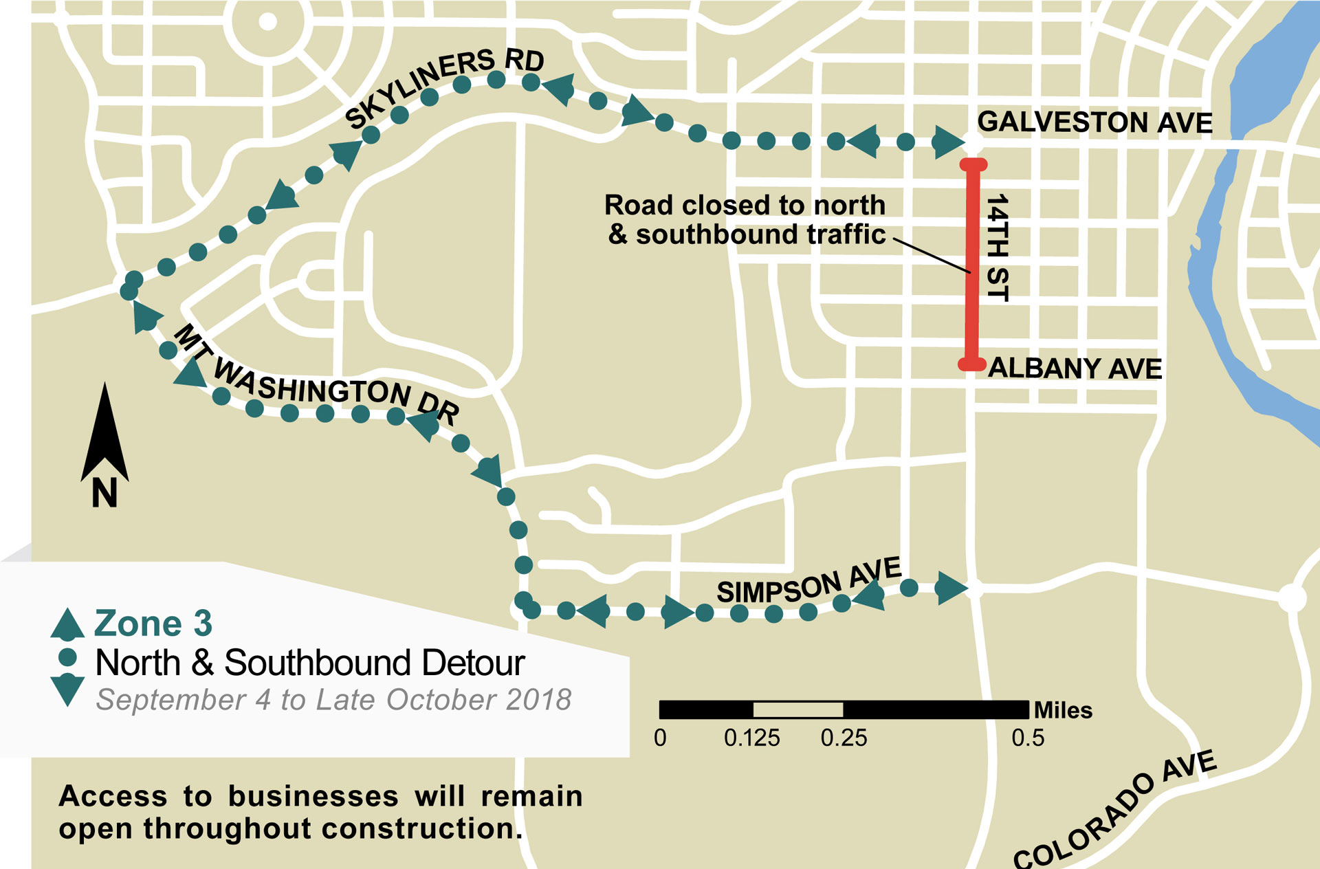 14th-Street Detour Map Web_September 4