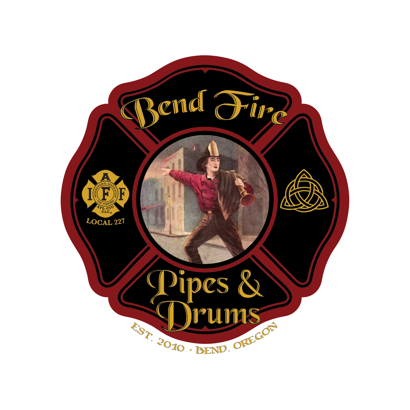 Bend Fire Pipes and Drums Logo