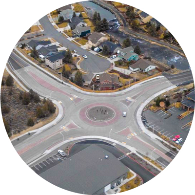 18th Street Roundabout aerial.