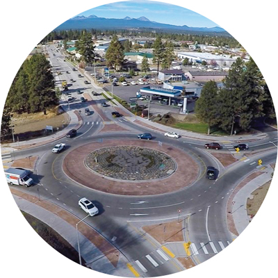 Reed Market Roundabout aerial.