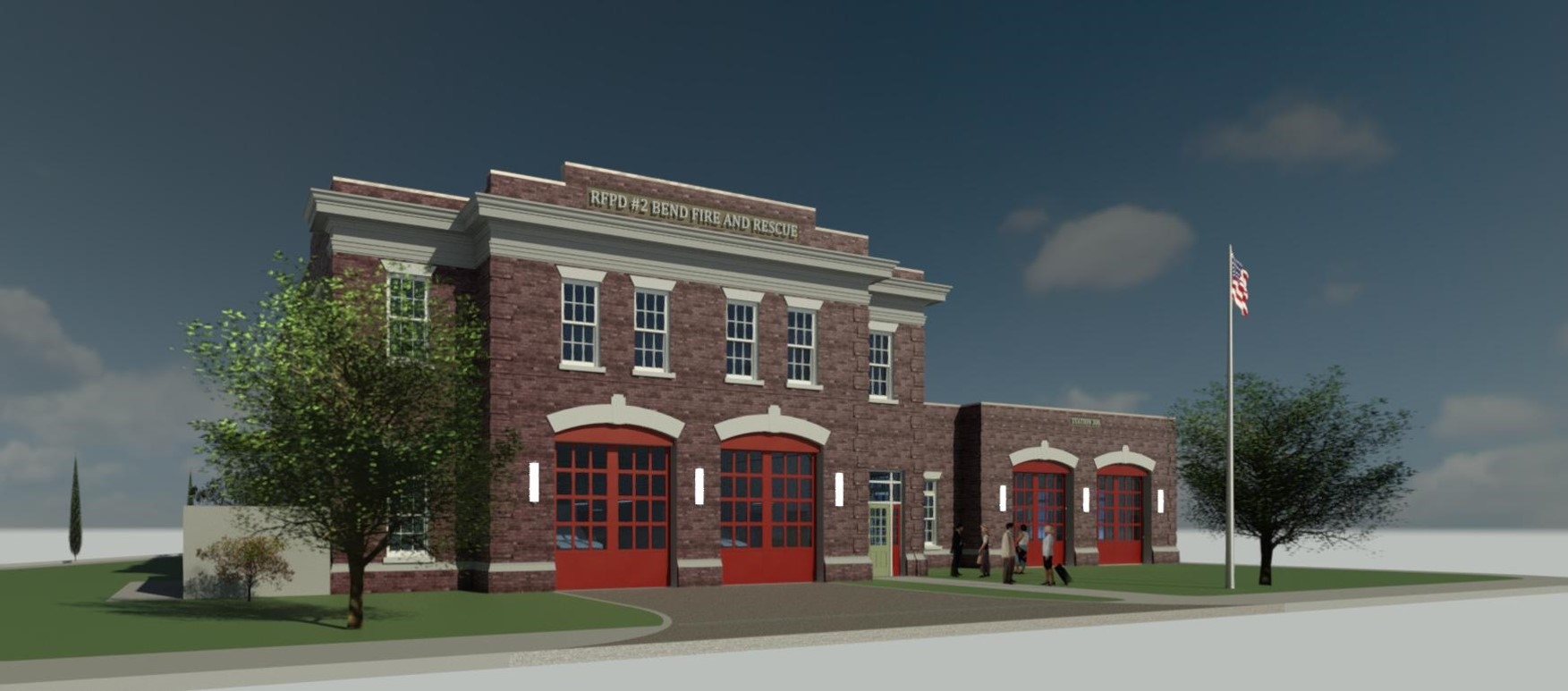 Digital Image of New Pilot Butte Fire Station