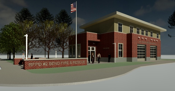 Digital rendering of new Tumalo station, station 302