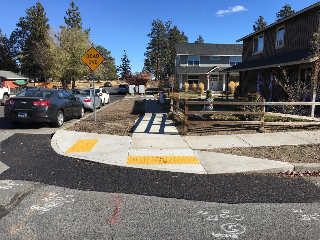 New Curb ramps at Dean Swift and Don Street