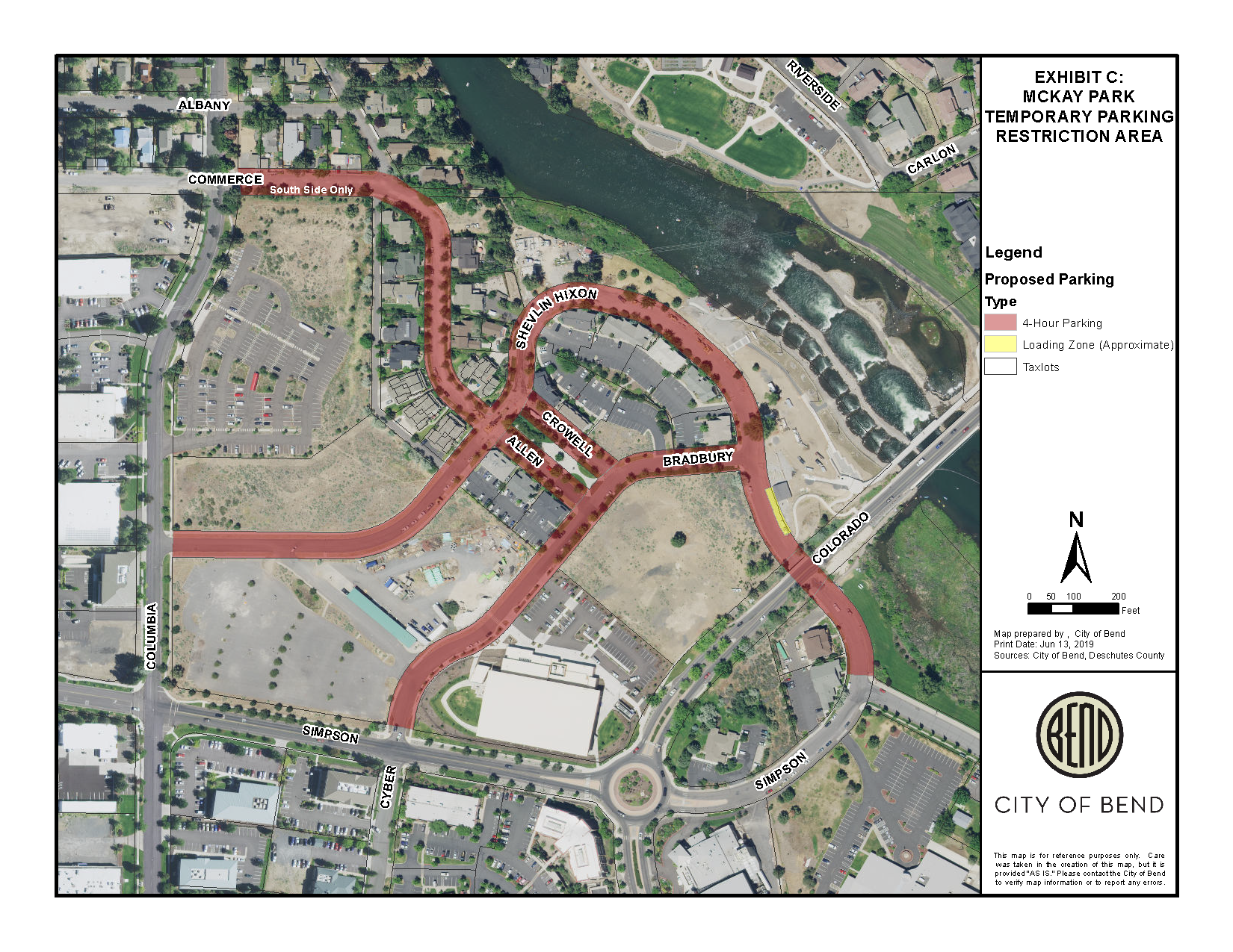McKay Parking temporary parking restrictions