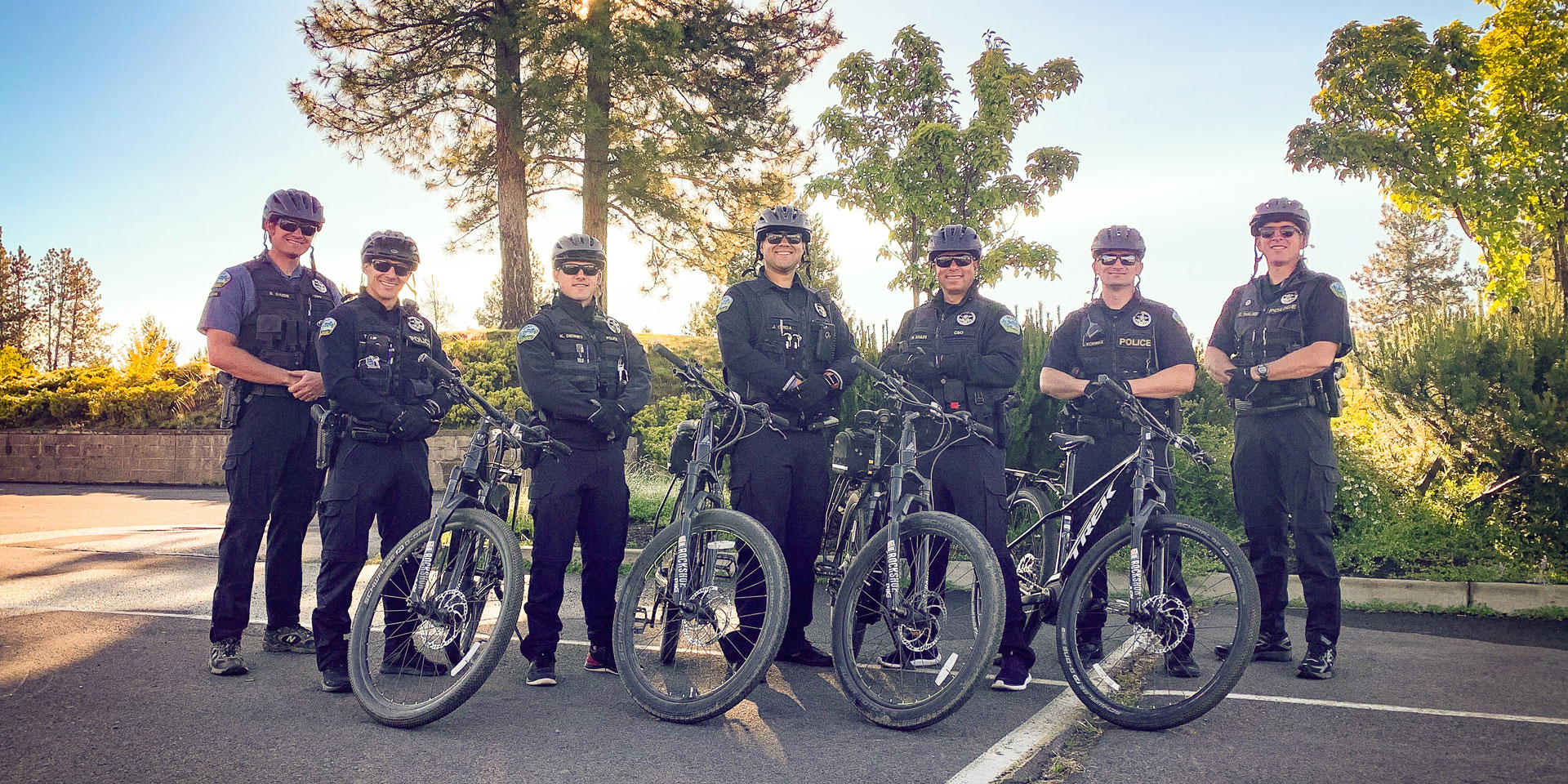 Bend Police Department electric bike team.