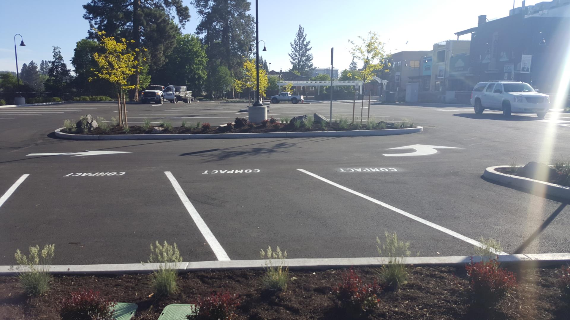 Work completed on the South Mirror Pond Parking Lot.