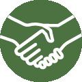 Handshake icon.