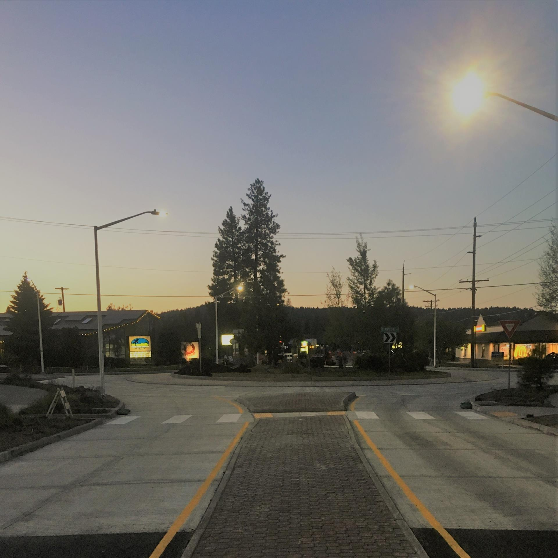 14th Street roundabout.