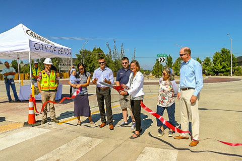 City Council ribbon cutting ceremony for the opening of the Empire and Purcell Roundabout.